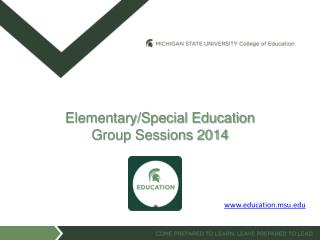 Elementary/Special Education Group Sessions 2014