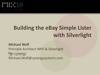 Building the eBay Simple Lister with Silverlight