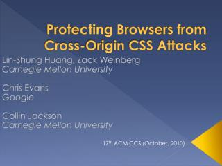 Protecting Browsers from Cross-Origin CSS Attacks