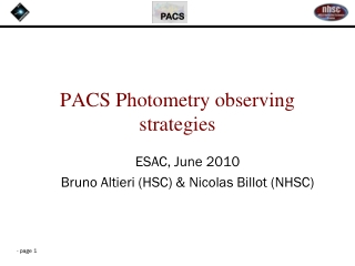 PACS Photometry observing strategies