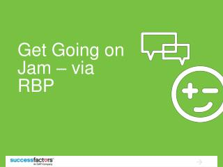 Get Going on Jam – via RBP