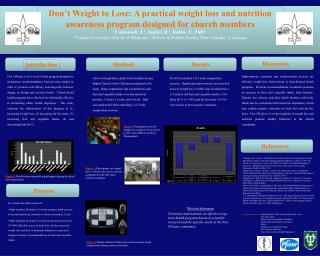 Don't Weight to Lose: A practical weight loss and nutrition awareness program designed for church members Courseault, J