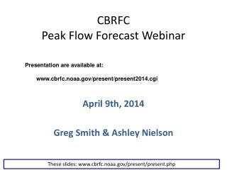 CBRFC Peak Flow Forecast Webinar