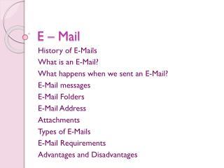 E � Mail