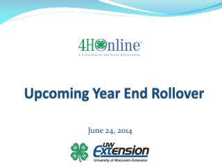 Upcoming Year End Rollover