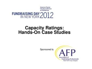 Capacity Ratings:  Hands-On Case Studies