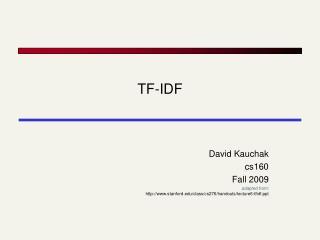 how to train tf idf