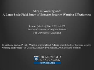 Alice in  Warningland : A Large-Scale Field Study of Browser Security Warning Effectiveness