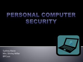 Personal Computer  Security