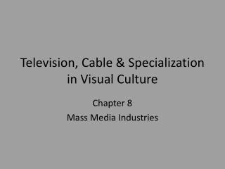 Television, Cable & Specialization in Visual Culture