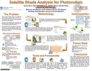 Satellite Shade Analysis for Photovoltaic Efficiency