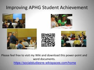 Improving APHG Student Achievement