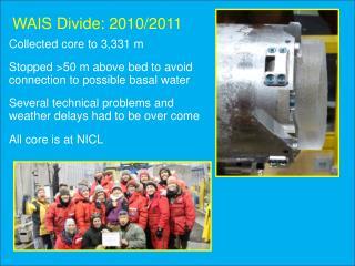 WAIS Divide: 2010/2011