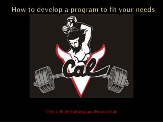How to develop a program to fit your needs