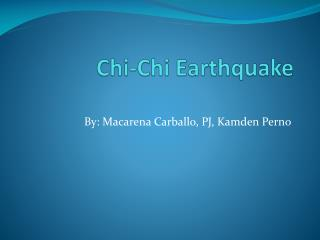 Chi-Chi  Earthquake
