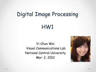 Digital Image Processing HW1