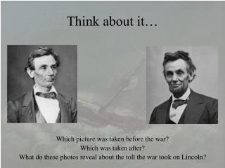 Think about it…