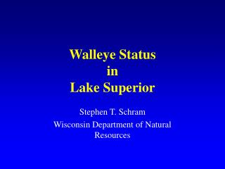 walleye status in lake superior