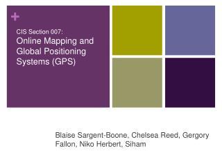 Blaise Sargent-Boone, Chelsea Reed, Gergory Fallon, Niko Herbert, Siham