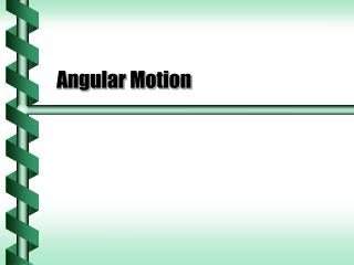 angular motion