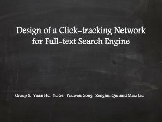 Design of a Click-tracking Network for Full-text Search Engine
