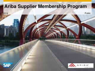 Ariba Supplier Membership Progra m