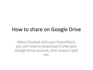 How to share on Google Drive