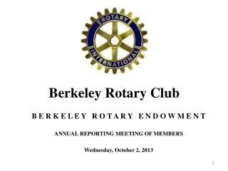 Berkeley Rotary Club