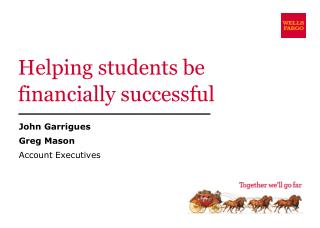 Helping  students be financially successful