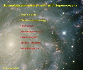 Cosmological measurements with  Supernovae  Ia