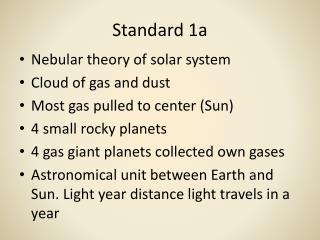 Standard 1a