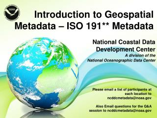 National Coastal Data Development Center   A division of the  National Oceanographic Data Center