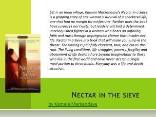 Nectar in the sieve