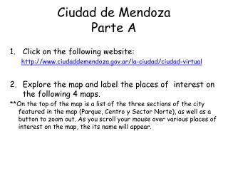 Ciudad de Mendoza Parte A