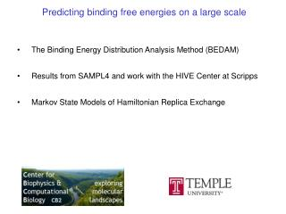 Predicting binding free energies on a large scale
