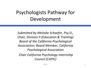 Psychologists Pathway for Development