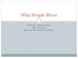 Why People Move