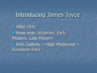 introducing james joyce
