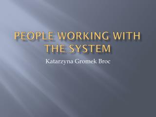 People working with the system