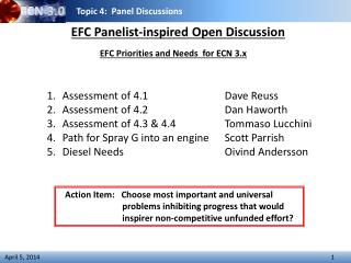 EFC Panelist-inspired Open Discussion