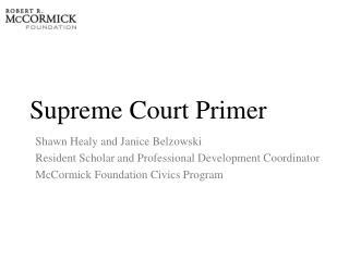 Supreme Court Primer