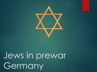 Jews in prewar Germany