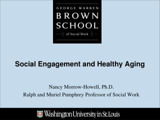 Social Engagement and Healthy Aging
