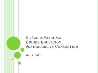 St. Louis Regional Higher Education Sustainability Consortium