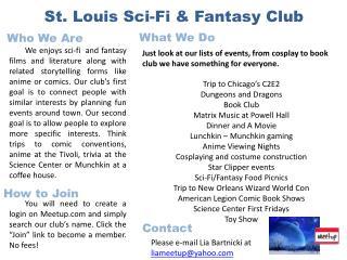 St . Louis Sci-Fi & Fantasy Club