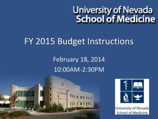 FY 2015 Budget Instructions