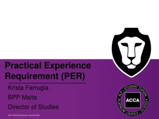 Practical  Experience Requirement ( PER)