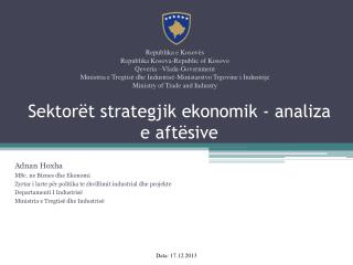 Sektorët strategjik ekonomik - analiza e aftësive