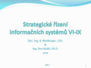 Strategické řízení informačních  systémů VI-IX