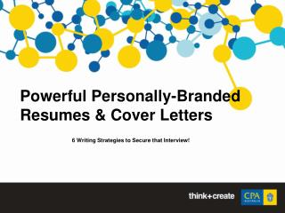 Powerful Personally-Branded Resumes & Cover Letters